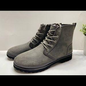 NEW UGG Harkland Vibram Men Leather Wool Boots